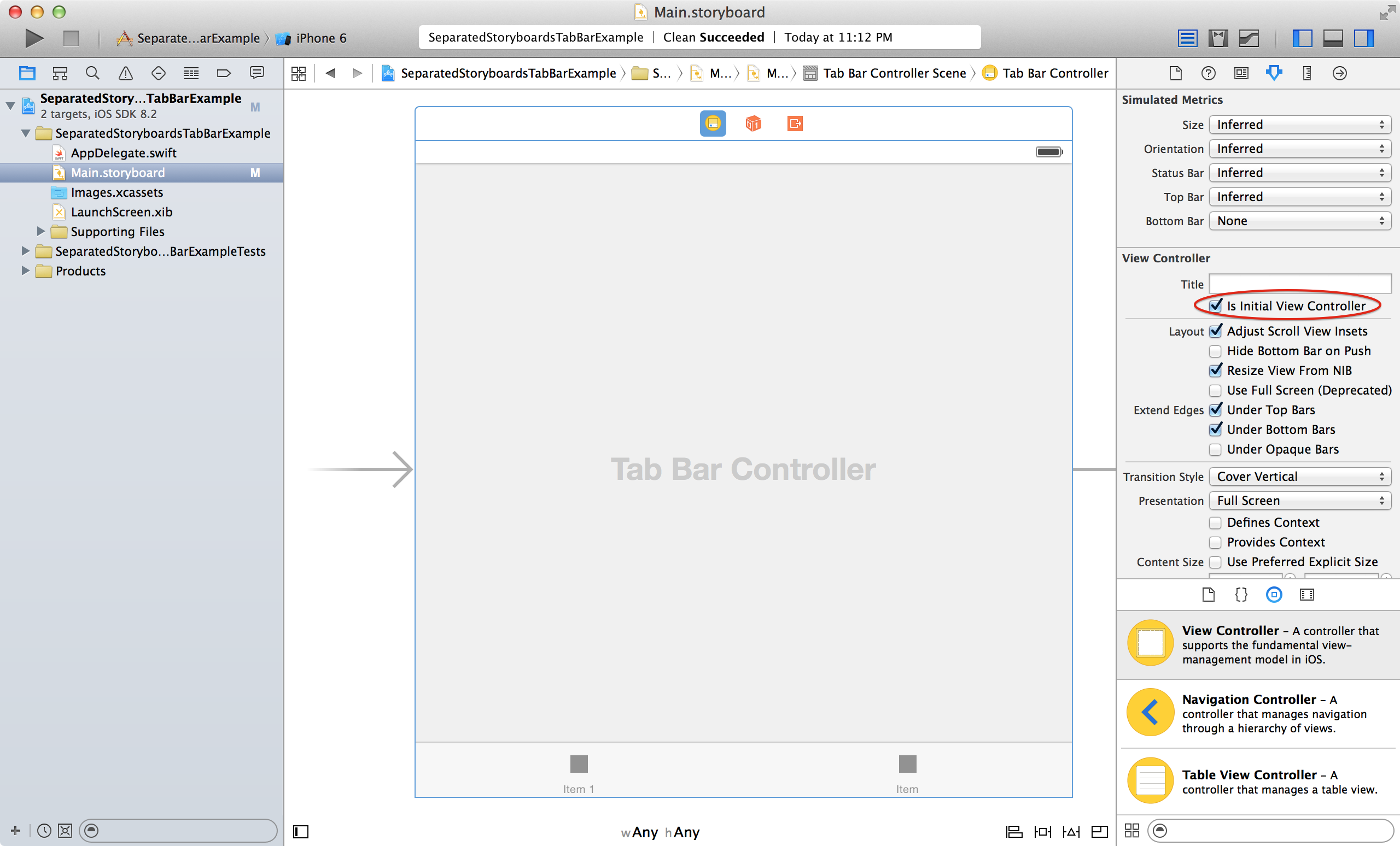 Separated Storyboards for Tab Bar Controllers
